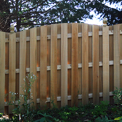 Wood Fence Board On Board Concave