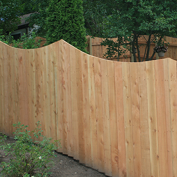 Wood Privacy Concave Fence