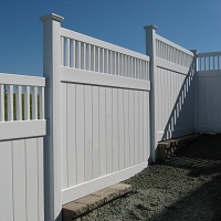 New Vinyl Fence installation near Syracuse NY - Gasparini Fence Company